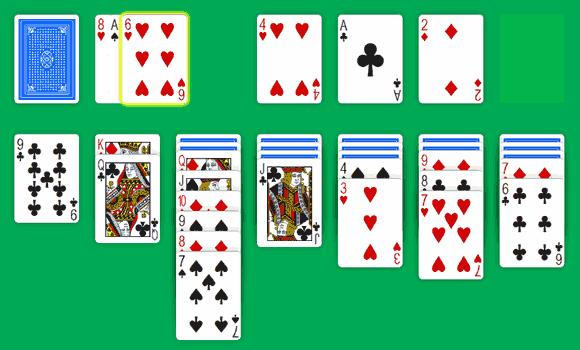 Solitär Klondike Green